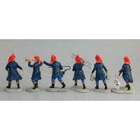 Fireman set of six